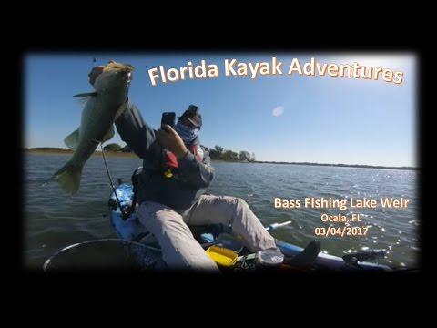 Kayak Bass Fishing On Lake Weir Ocala, Florida