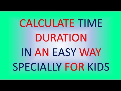 Calculate DURATION OF TIME(Easy Way) - YouTube