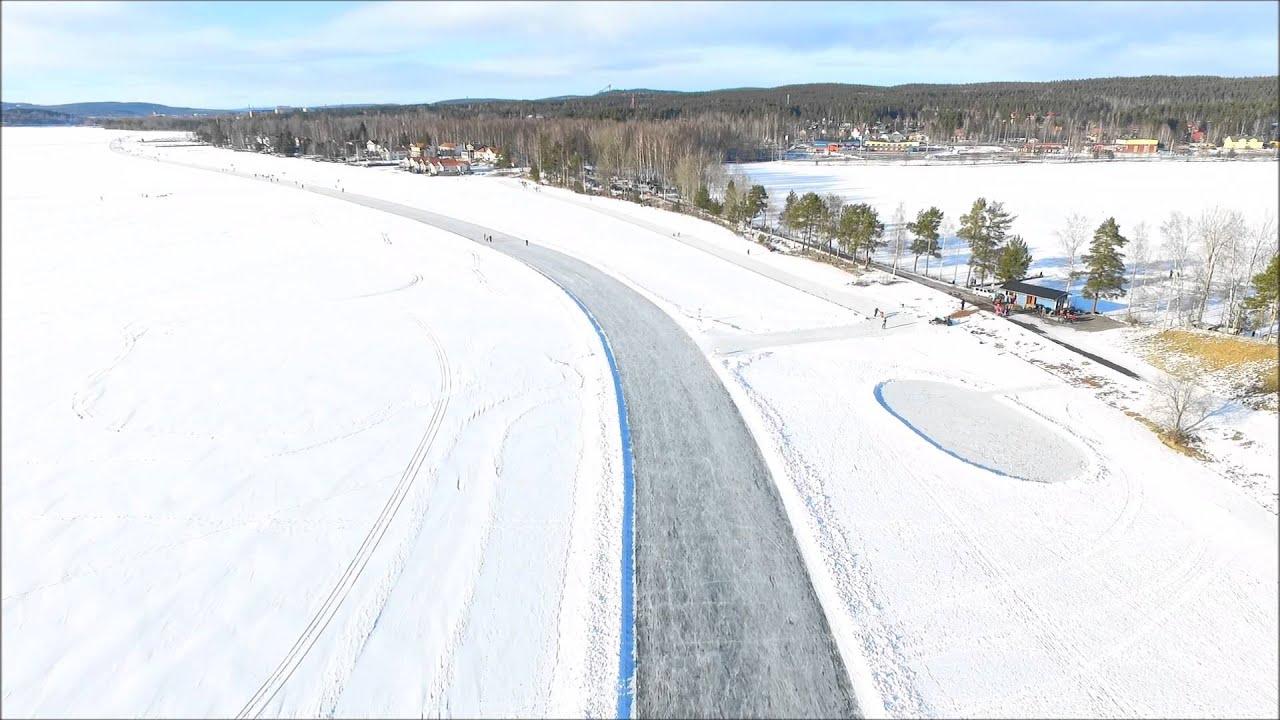 runn_Phantom flyg - Skating track on the lake Runn in Falun - YouTube