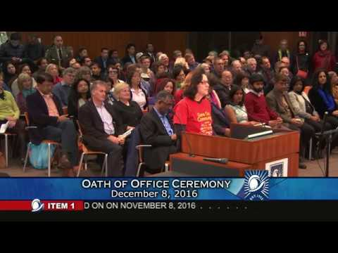 Cupertino City Council Oath of Office Ceremony 2016