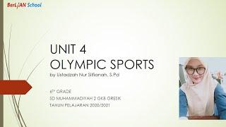 OLYMPIC SPORTS ( Superminds 6 UNIT 4 ) - Bahasa Inggris Kelas 6 SD   BerLIAN School