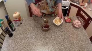 Куриные крылышки в остро-сладком маринаде и запеченный картофель