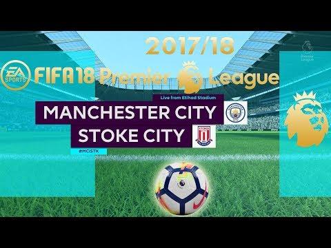 FIFA 18 | Manchester City vs Stoke City | Premier League 2017/18 | PS4