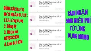 Hướng dẫn đăng ký momo nhận 500k