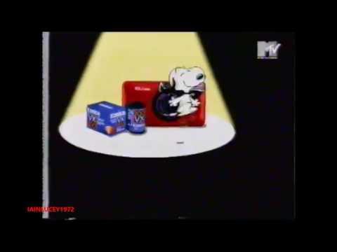 SNOOPY PEANUTS konika cameras tv advert MTV EUROPE 1996  HD 1080P