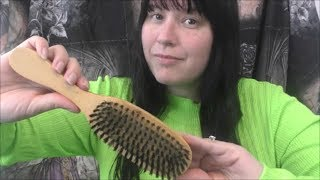 #ASMR This Hairbrush will give you MEGA TINGLES!!!  ( Brushing / Tapping )