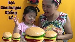Kẹo Hamburger khổng lồ -  Hoa Chanh TV -  Big Hamburger Candy