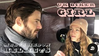 UK Biker Girl Meets owner of Hedon Helmets