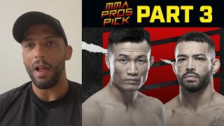 MMA Pros Pick Korean Zombie vs Dan Ige Part 3 UFC Vegas 29