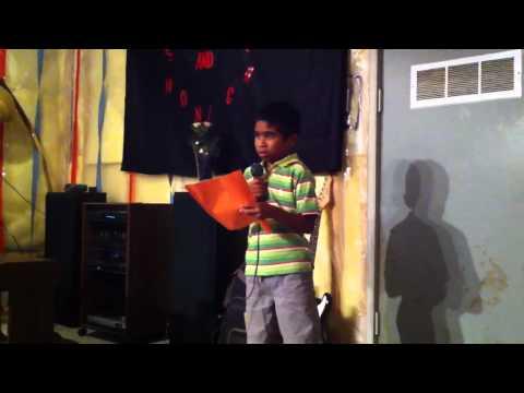 Jeremy singing ' naan nirkum Paarai Christhu dhaan''