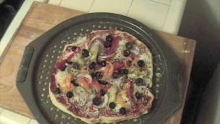Vegetarian Pizza -  Home Made Pizza Recipe with dough from scratch
