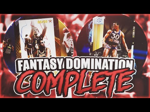 FANTASY DOMINATION COMPLETE! PACKS/TOKENS/ALL TIME DOMINATION! (NBA 2K19 MYTEAM)