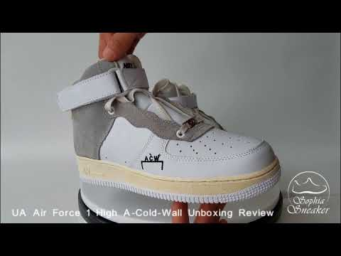 2e045eba1d6 UA Air Force 1 High A Cold Wall Unboxing Review
