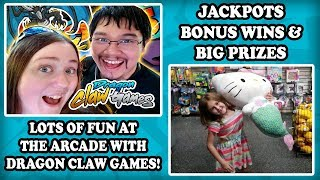 Arcade Games, Bonus Wins, and Jackpots at Main Event with Kevin from Dragon Claw Games! TeamCC