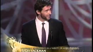 Hugh Jackman wins 2005 Emmy Award for Individual Performance in a Variety or Music Program