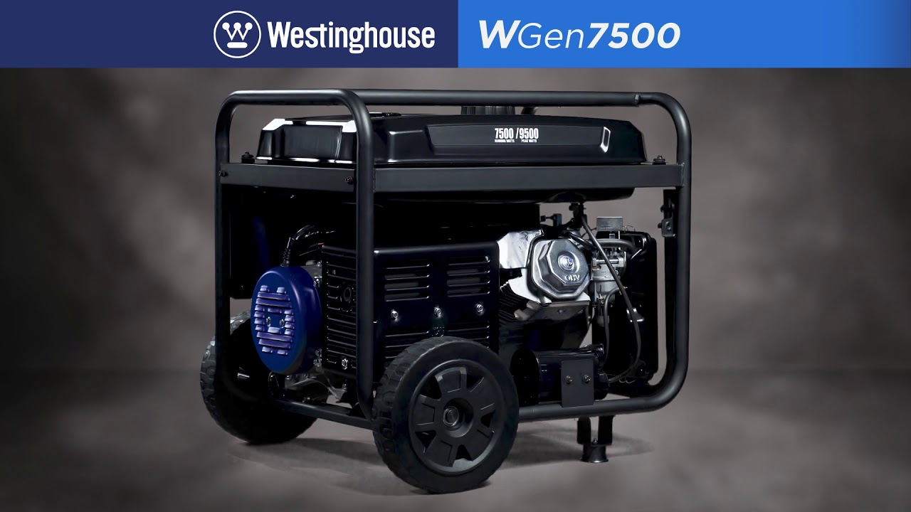 WGen7500 7,500 Watt Portable Generator on