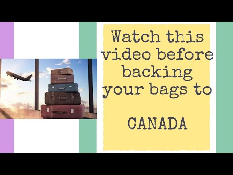 List Of Items To Bring To CANADA || Watch This Video Before Packing Your Bags For CANADA