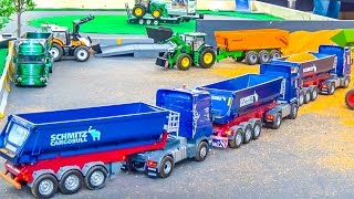 RC trucks & tractors in ACTION on a cool display! SCANIA & much more!