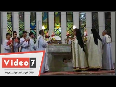 الكنيسة الكاثوليكية تصلى قداس عيد القيامة المجيد بمدينة نصر