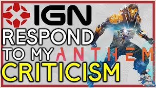 ANTHEM Microtransactions! IGN Respond To My Criticism
