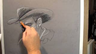 """""""20 minutes to Cowboy"""" drawing by Shawn McCann"""