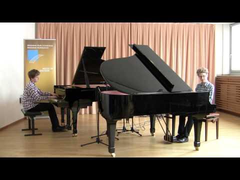 Antonius Nies und Fabian Tischbirek: Brahms Walzer für 2 Klaviere