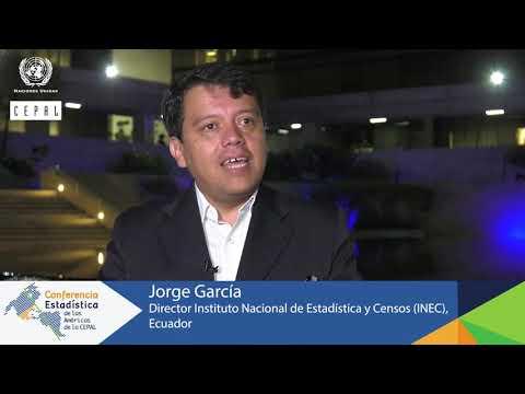 Jorge García, Director INEC, Ecuador