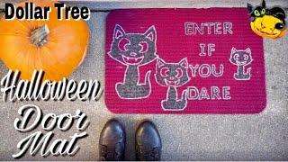Dollar Tree DIY Halloween Door Mat