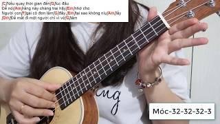 ♬Hướng dẫn Ukulele♬ ĐAU ĐỂ TRƯỞNG THÀNH ♥ ONLYC-Cách đánh đơn giản nhất (Tone Nữ)
