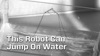 Robot Jumps On Water