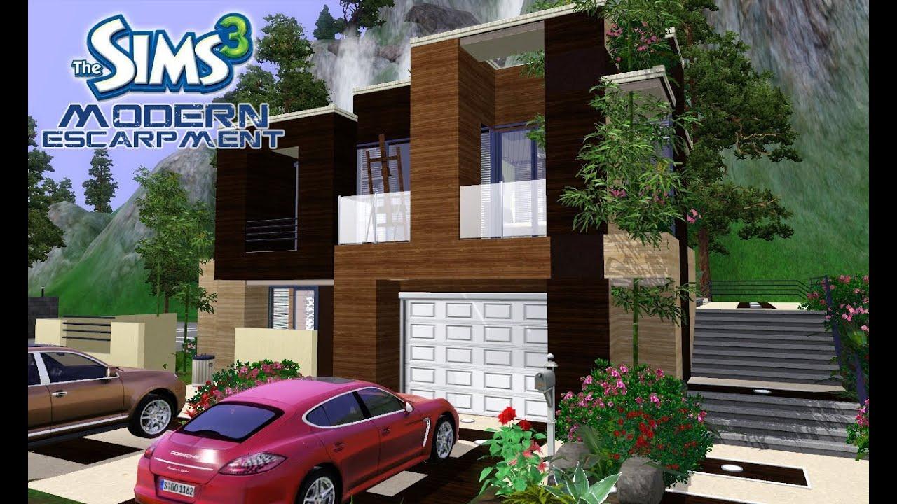 The Sims 3 House Designs - Modern Escarpment - YouTube