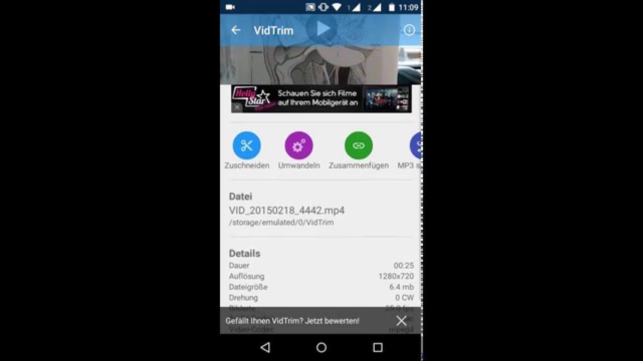 Mit Vidtrim Smartphone Videos Komprimieren Youtube