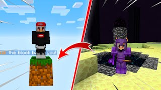 TERMINO MINECRAFT ONE BLOCK EN UN SOLO VIDEO...