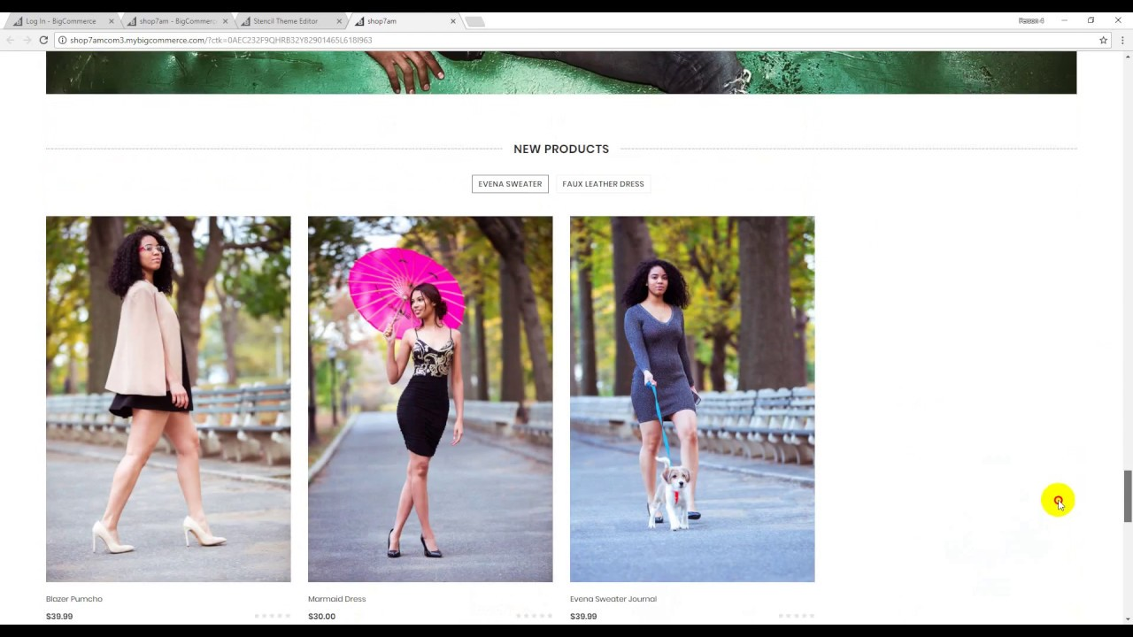 BigCommerce LaParis Edit Homepage