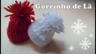 Gorrinho de Lã para Decoração de Natal
