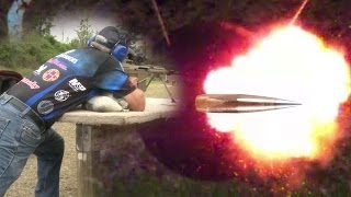 50 CAL ARMOR PIERCING INCENDIARY ROUNDS SLOW MO!