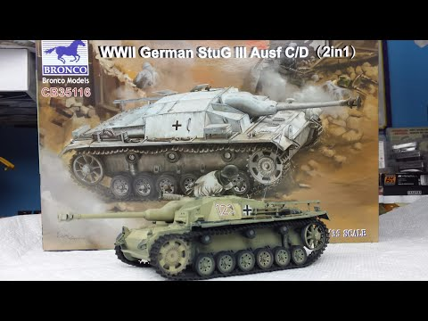 Building and Painting Bronco's Upgunned StuG III C/D - Bronco CB35116 Step by Step