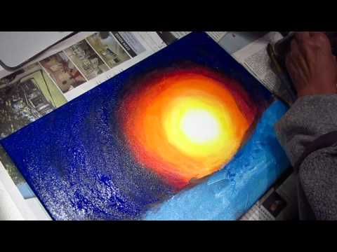 Acrylic painting - from desert to ocean