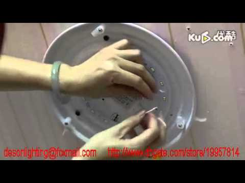 Install LED Ceiling light Fixture YouTube