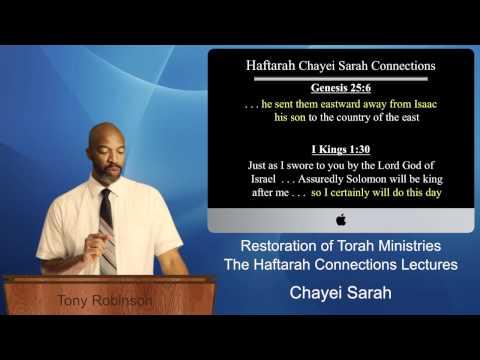 6) Chayei Sarah Haftarah Connections