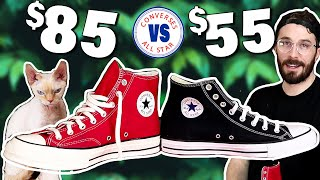 Chuck 70 vs Basic Chuck Taylors - (CUT IN HALF) - Converse Chuck Taylor Sneaker Review