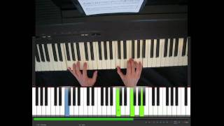 Wonderful tonight, Eric Clapton, piano tutorial