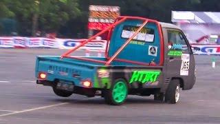 Pick Up Nge-Drift Cantik (Indonesia Night City Slalom 2016) GT Radial Mandala Krida Jogja Yogyakarta