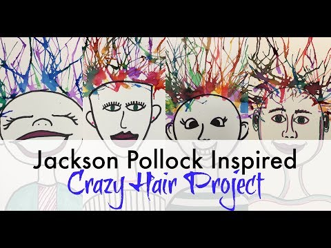 Jackson Pollock Inspired Crazy Hair Painting - RSE Art Appreciation