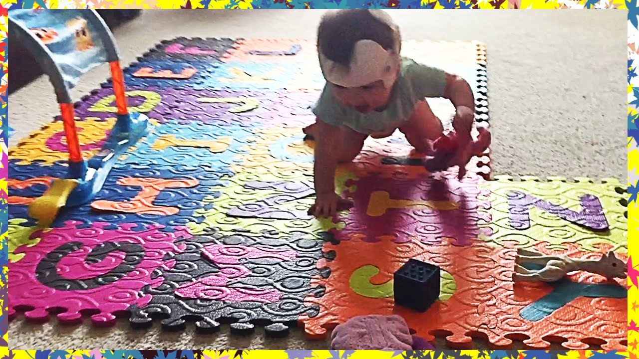 Abc alphabet foam puzzle mat removable play tiles youtube abc alphabet foam puzzle mat removable play tiles dailygadgetfo Images
