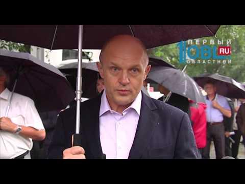 В Челябинске под ливнем инсценировали мощный потоп
