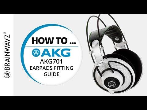 HOW TO GUIDE : Installing Brainwavz XL Earpads On The AKG 701 Headphones