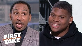 2019 NFL Draft: Quinnen Williams says he's an elite run-stopper, instant-impact player | First Take