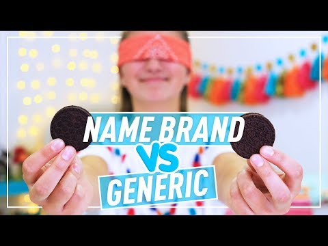 NAME BRAND vs GENERIC Taste Test - Kamri...