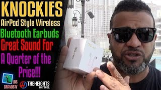 Knockies AirPod Style Bluetooth Earbuds 🎧 : LGTV Review from Dubai
